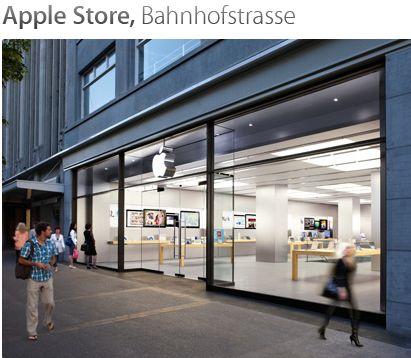 schaffhausen apple store an der bahnhofstrasse in z rich. Black Bedroom Furniture Sets. Home Design Ideas