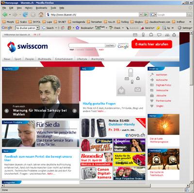 www bluewin ch mail startseite
